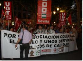Photo of Histórica manifestación unitaria de los trabajadores municipales