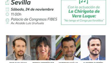 Photo of ¡Nos vemos este sábado en el acto central de campaña de Adelante Andalucía!