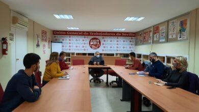 """Photo of IU y UGT mantienen un encuentro para """"coordinar acciones en defensa de los trabajadores y trabajadoras de Sevilla"""""""