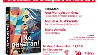 Photo of Mario Amorós presenta en Sevilla ¡No pasarán! Biografía de Dolores Ibárruri, Pasionaria
