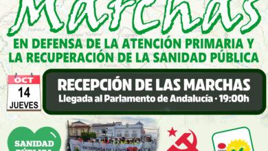 Photo of Mañana 14 de octubre llega a Sevilla la Marcha en defensa de la Sanidad Pública de calidad
